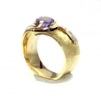 Tanzanit köves gyűrű